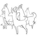Illustration of running animals Stock Photography