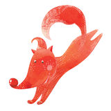 Illustration of running fox Royalty Free Stock Images