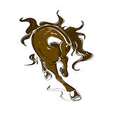Illustration with running horse Royalty Free Stock Image