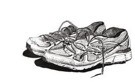 Illustration running shoes Stock Photos