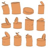 Illustration of rusty cans Stock Images