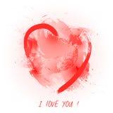 illustration s för hjärta för green för dreamstime för kortdagdesignen stylized valentinvektorn Royaltyfri Foto