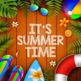 It`s summer time vector illustration