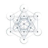 Illustration sacrée de la géométrie de cube en Metatrons Photos stock