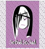 Illustration of sad girl face Stock Photo