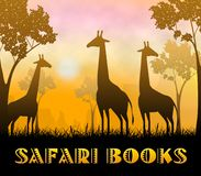 Illustration Safari Books Showing Wildlife Reserves 3d lizenzfreie abbildung
