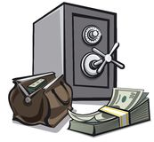 Safe and dollars Stock Image