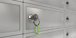 Illustration of Safe Deposit Boxes, Realistic object Royalty Free Stock Image