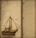Illustration of sailing boat Stock Image