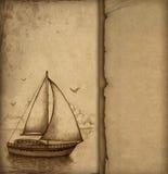 Illustration of sailing boat Stock Image