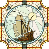 Illustration of sailing ships of the 17th century. Royalty Free Stock Photo