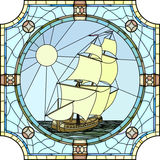 Illustration of sailing ships of the 17th century. Stock Images