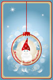 Illustration of Saint Nicholas Day. Illustration of Saint Nicholas (Sankt Nikolaus) with French text for Happy St. Nick - inside of christmas decoration ball royalty free illustration