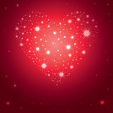 Illustration of Saint Valentine's Day heart Royalty Free Stock Image
