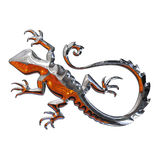 Illustration of a salamander. In chrome Stock Photography