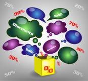 Illustration sale Stock Photos