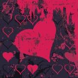 Illustration sale abstraite de coeur de fond Images libres de droits