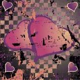 Illustration sale abstraite de coeur de fond Image stock