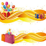 illustration of sale banners Stock Photography