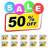 Sale icons set. Illustration of sale icons set on white background Stock Photos