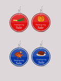 Illustration of sale tags for Thanksgiving Royalty Free Stock Photos