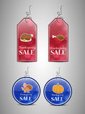 Illustration of sale tags for Thanksgiving Royalty Free Stock Image