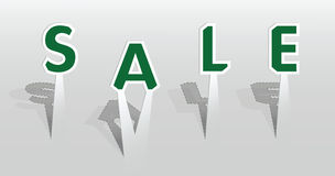 Illustration of sale word Stock Images
