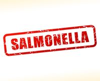 Salmonella text buffered. Illustration of salmonella text buffered on white background Royalty Free Stock Image