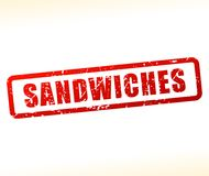 Sandwiches stamp on white background. Illustration of sandwiches stamp on white background Stock Image
