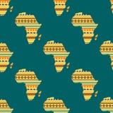 Illustration sans couture continente de vecteur de modèle de l'Afrique Photographie stock libre de droits