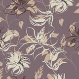 Illustration sans couture de fleur de ressort Images stock