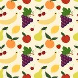 Illustration sans couture de fond de modèle de préparation de fruit Photos stock