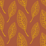 Illustration sans couture de modèle de feuilles d'automne Photographie stock