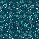 Illustration sans couture de modèle de répétition d'étoiles peu précises Photographie stock