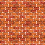 Illustration sans couture de modèle rouge de mur de briques de fond illustration de vecteur