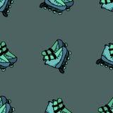 Illustration sans couture de patins de rouleau Photographie stock