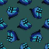 Illustration sans couture de patins de rouleau Photos stock