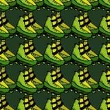 Illustration sans couture de patins de rouleau Photographie stock libre de droits