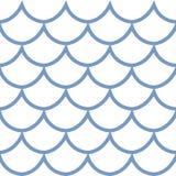 Illustration sans couture de vecteur d'échelle de poissons de modèle Image stock