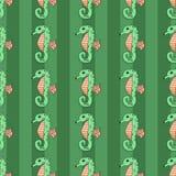Illustration sans couture de vecteur d'hippocampe Images stock