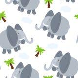 Illustration sans couture de vecteur de modèle d'éléphant Photos stock