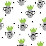 Illustration sans couture de vecteur de modèle d'ananas Photo stock
