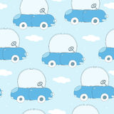 Illustration sans couture de vecteur de modèle de bande dessinée de voiture Photos libres de droits