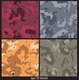 Illustration sans couture de vecteur de modèle de camouflage illustration libre de droits