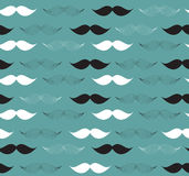 Illustration sans couture de vecteur de modèle de moustache Photos libres de droits