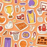 Illustration sans couture de vecteur de modèle de sport de basket-ball Image stock