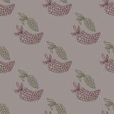 Illustration sans couture de vecteur de raisin Photographie stock