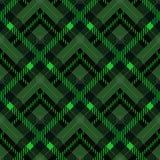 Illustration sans couture de vecteur de tartan de tissu modèle diagonal vert de texture de petit illustration libre de droits