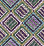 Illustration sans couture géométrique de modèle de formes abstraites de broderie image stock