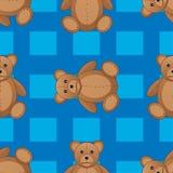 Illustration sans couture mignonne de vecteur de modèle d'ours de nounours Photos libres de droits